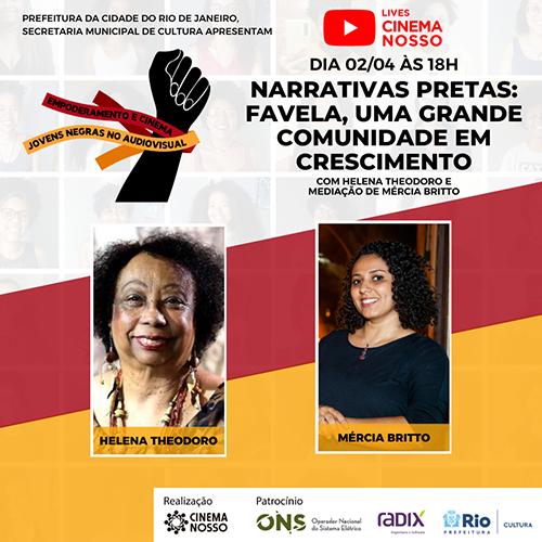 Live – Empoderamento – Narrativas Pretas – Favela, uma grande comunidade em crescimento