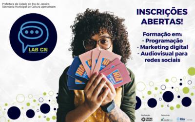 Inscrições abertas para os cursos de Programação, Marketing Digital e Audiovisual